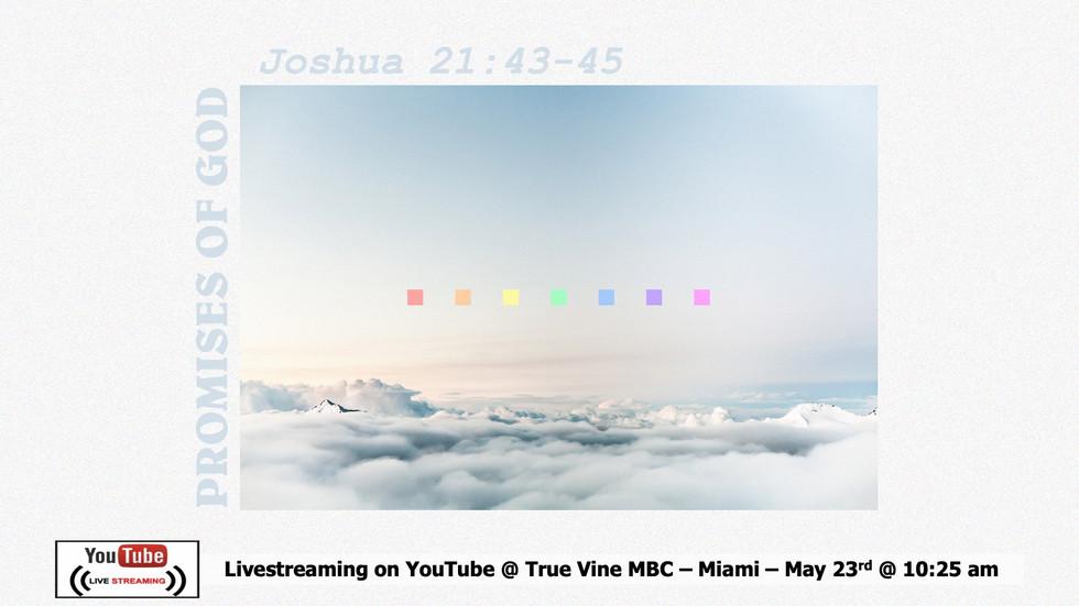 The Promises of God - Joshua 21:43-45