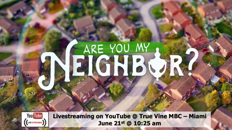 Are You My Neighbor - Luke 10 25-37