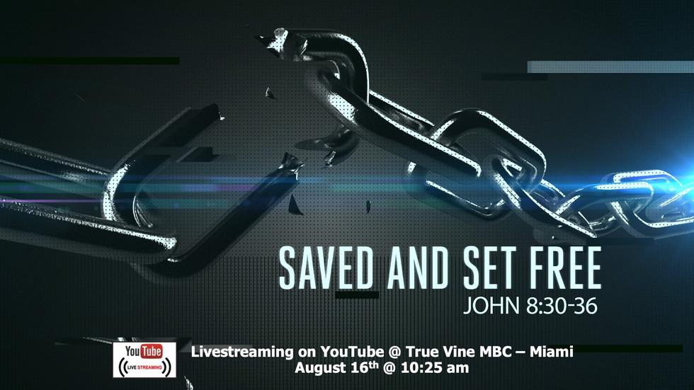 Saved & Set Free - John 8:30-36