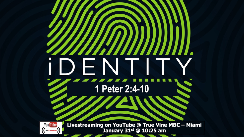 Identity - 1 Peter 2:4-10