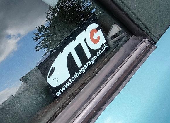 T.T.G. car window Sticker