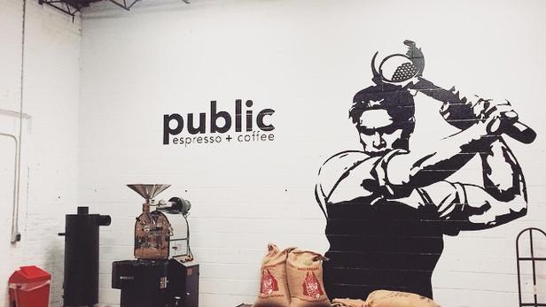 Public Espresso + Coffee - Mural