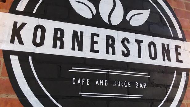 Kornerstone Cafe and Juice Bar Logo Mural