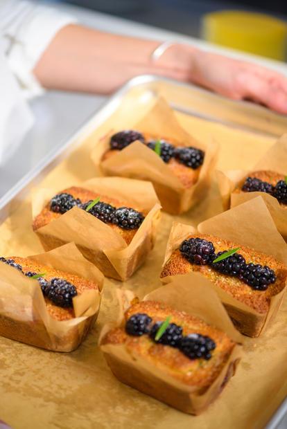 Almond Blackberry Loaves