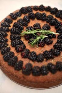 Josephine Almond Blackberry Cake