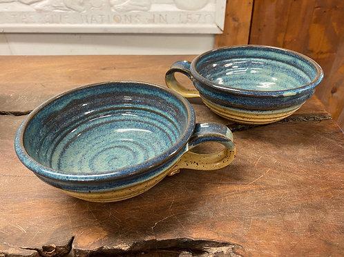 Single Handmade Stoneware Soup Bowl