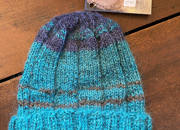 Hand Knit Wool Hat-4