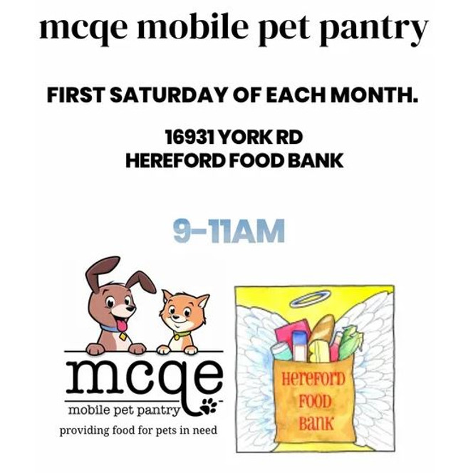MCQE Mobile Pet Pantry Stop! Hereford MD