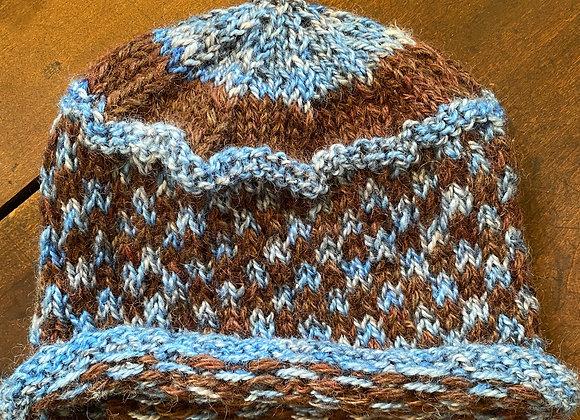 Hand Knit Wool Hat-7