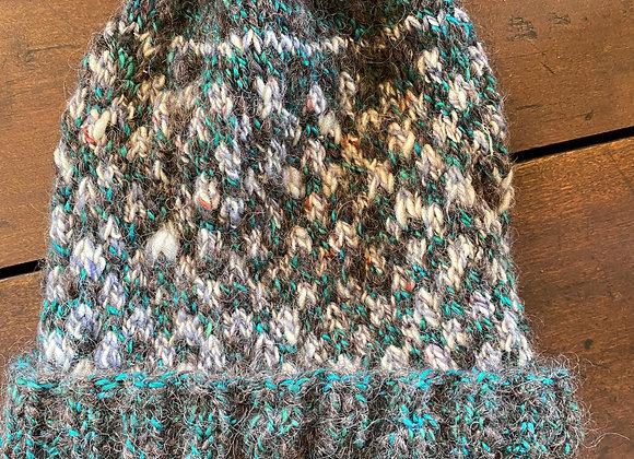 Hand Knit Wool Hat-3