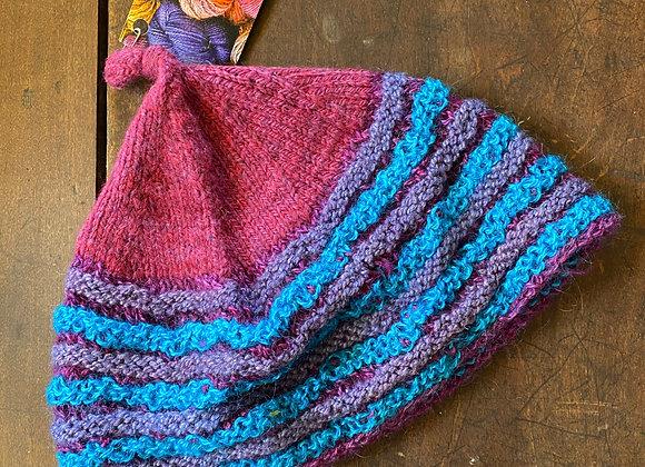Hand Knit Wool Hat-13
