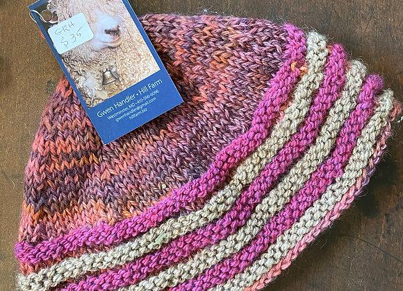 Hand Knit Wool Hat-10