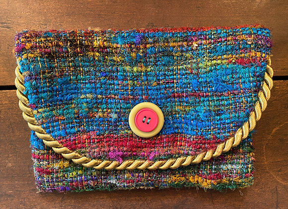Large 8x7 Handmade Lined Coin/Business Card Purse