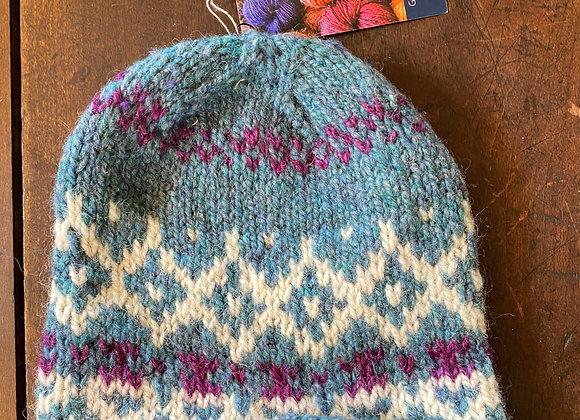 Hand Knit Wool Hat-12