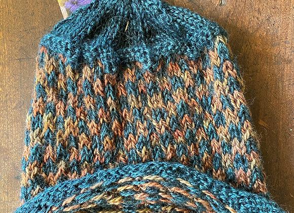Hand Knit Wool Hat-16