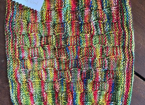 9x10 Handmade Local Marino Wool Wash Cloth