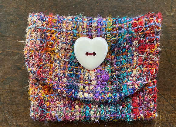 Small Handmade Lined Coin/Business Card Purse