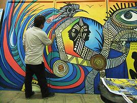 Mural for a Cuban show