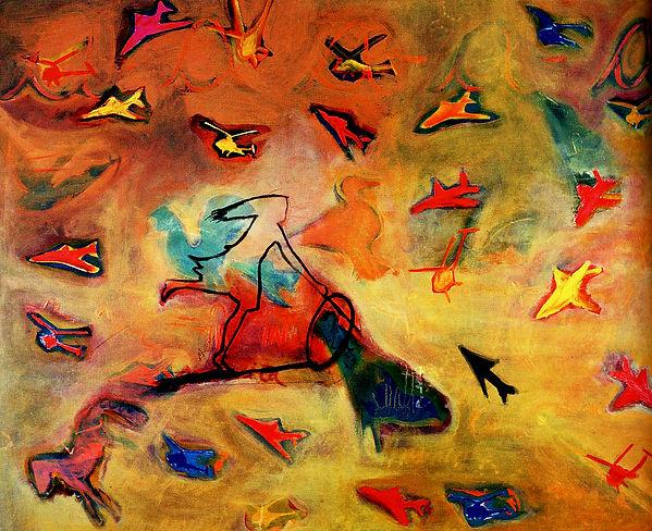 12- Aserrín Aserrán - Óleo sobre lienzo