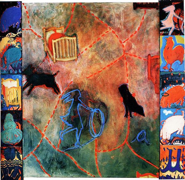 13- Aserrín Aserrán - Óleo sobre lienzo