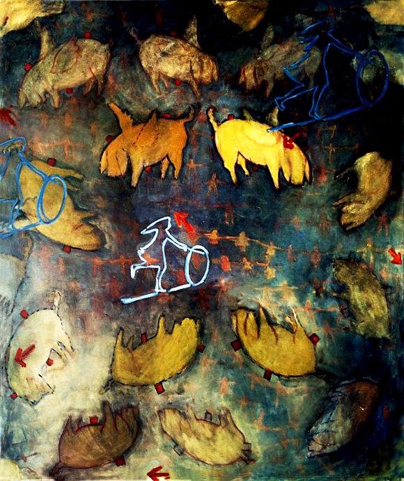 11- Aserrín Aserrán - óleo sobre lienzo