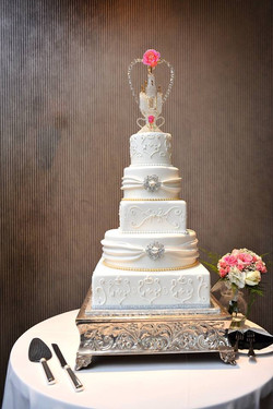 Silver and Gold wedding cake