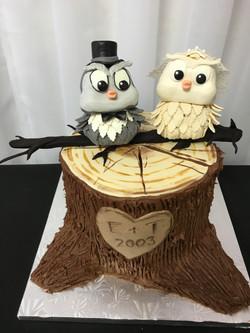 Owls Anniversary Cake