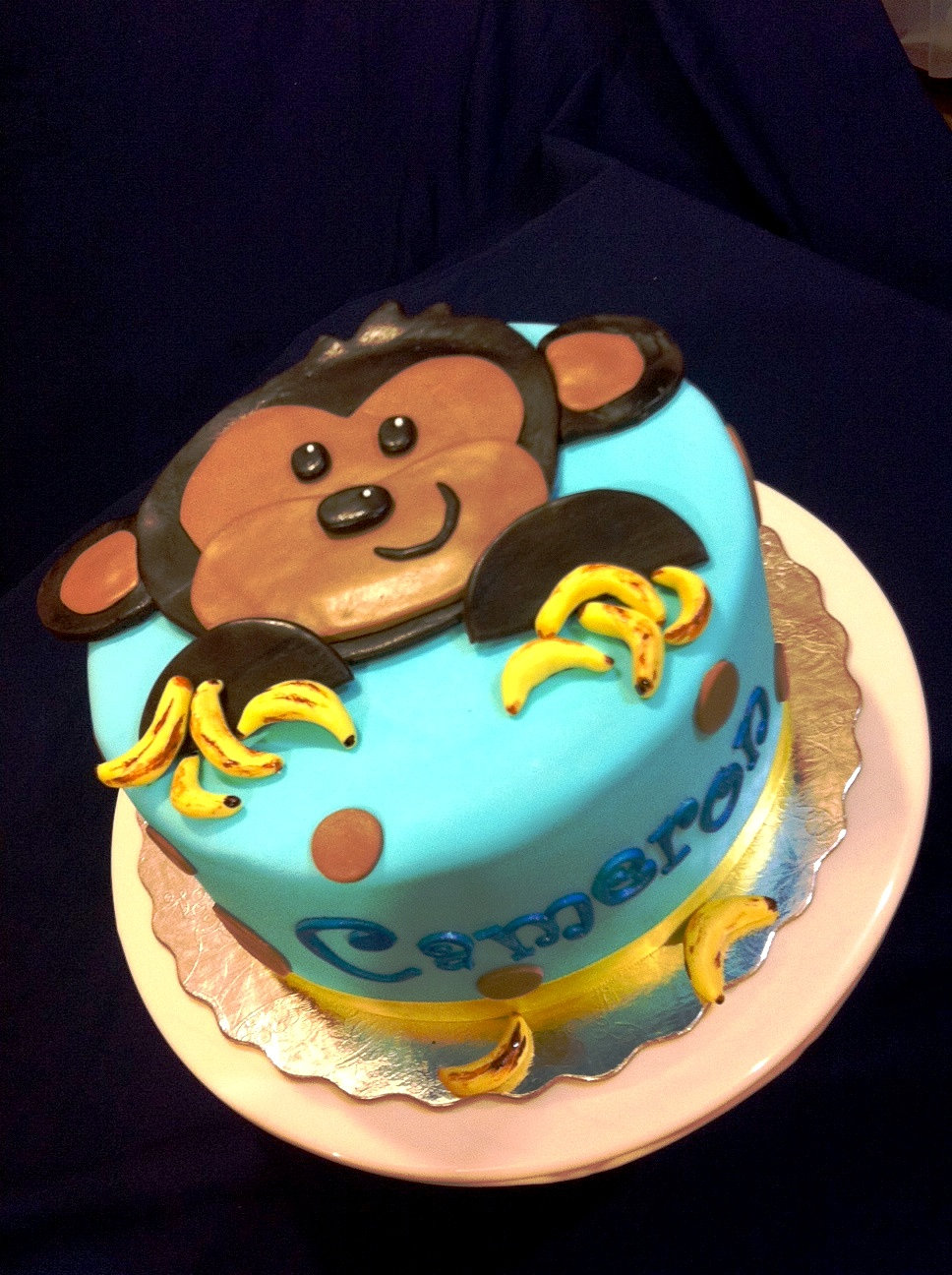 Baby Shower Cakes With Monkey