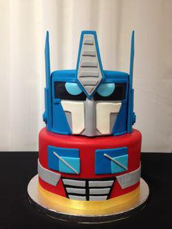 Optimus Prime Grooms Cake