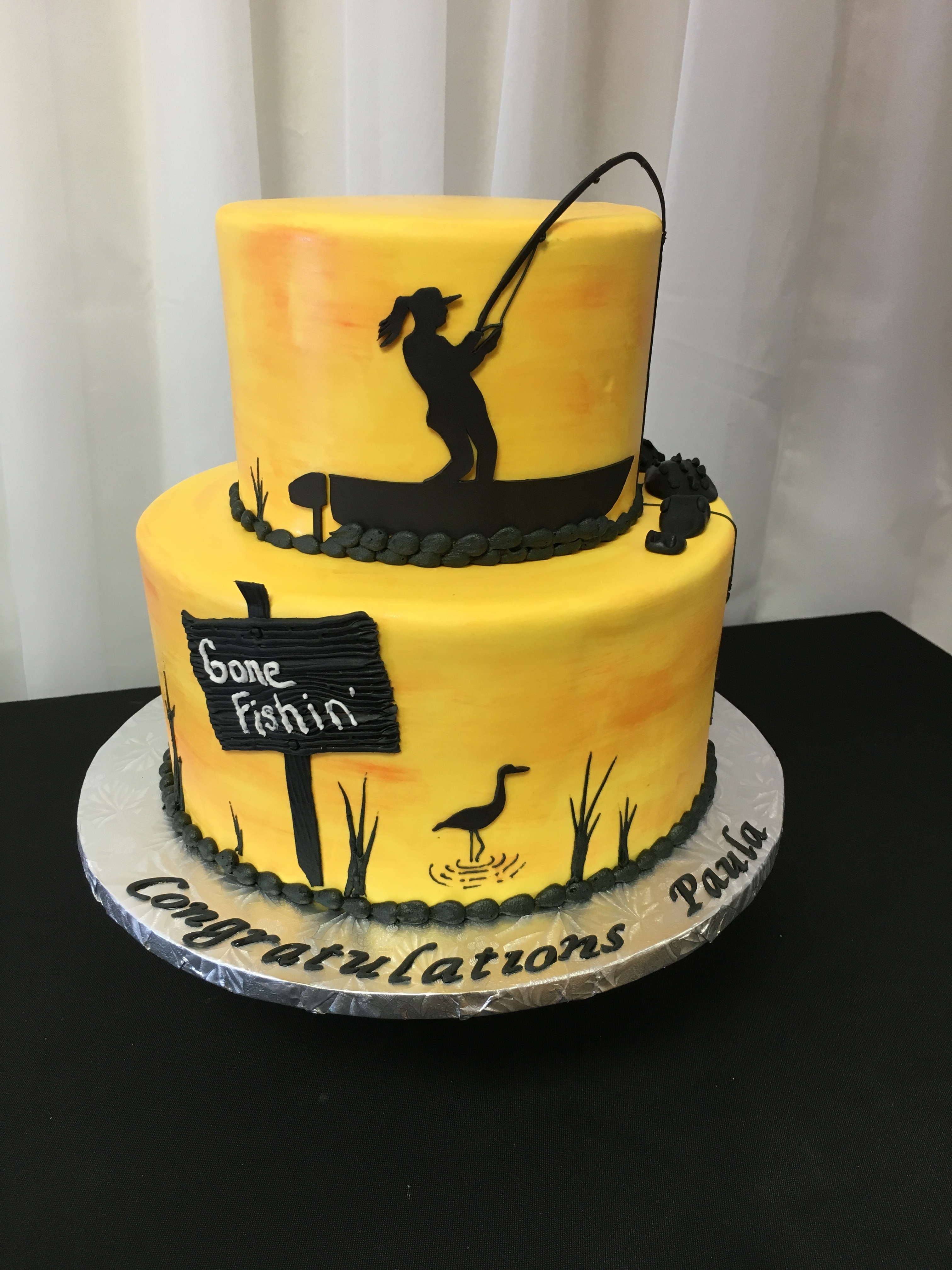 Sunset Fishing Cake