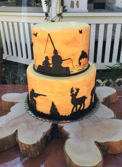 Hunting and Fishing Grooms Cake
