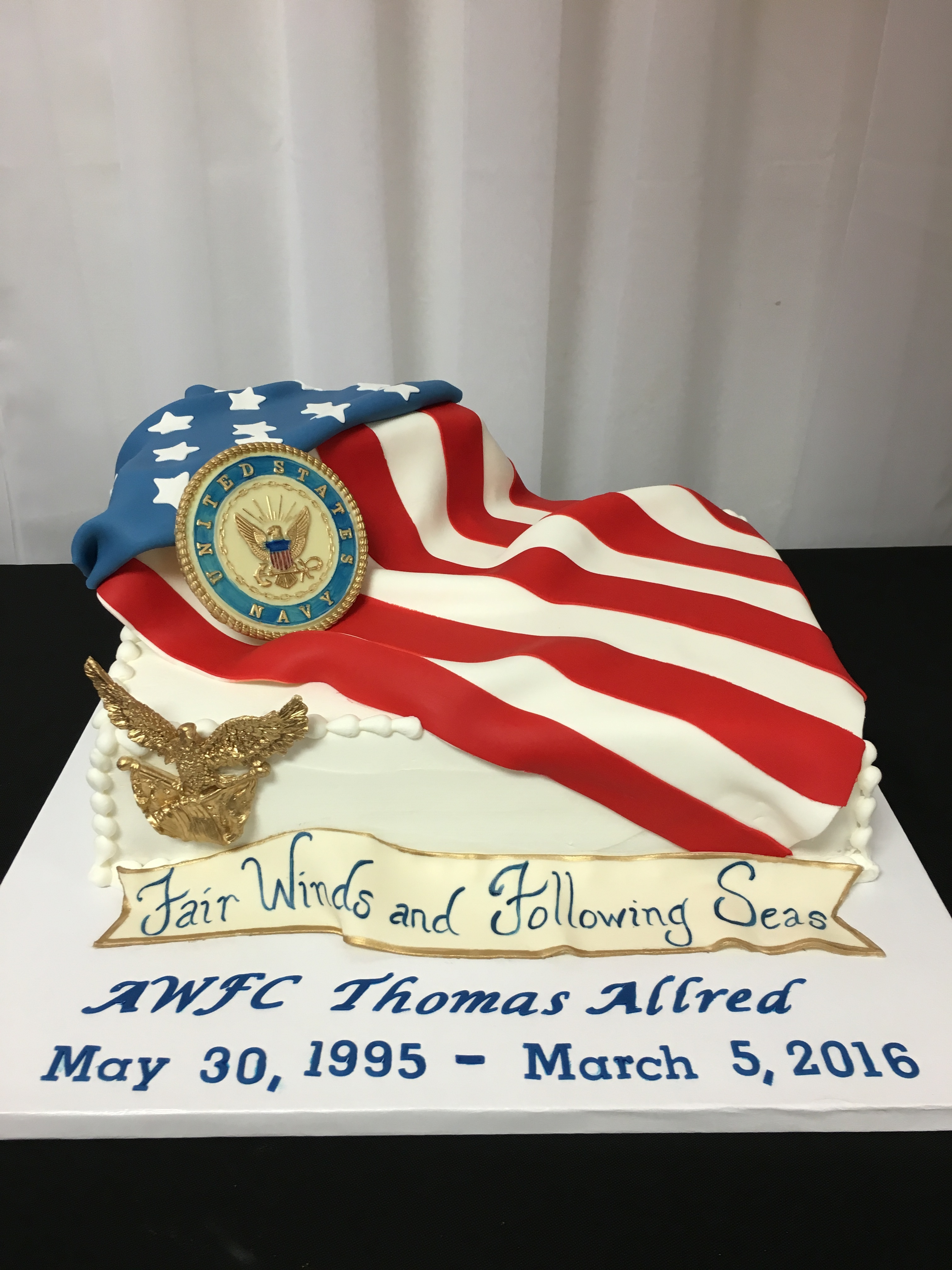 Navy Retirememt Cake