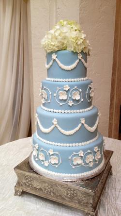 Wedgewood bridal cake