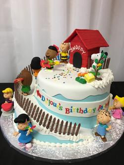 Peanuts Birthday Party Cake
