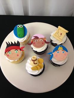 Jake Neverland Pirate Cupcakes
