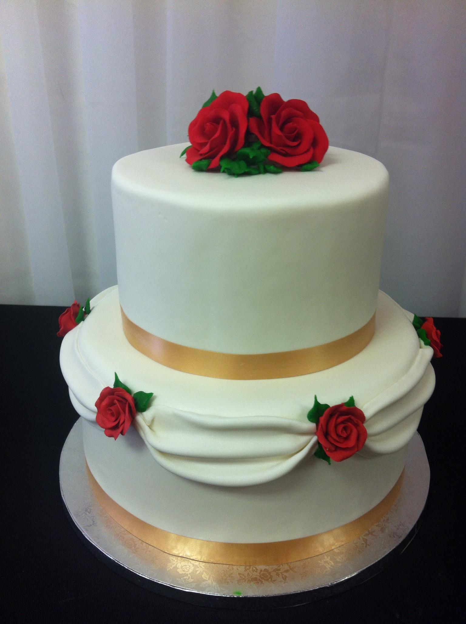 Rose 2-tier cake