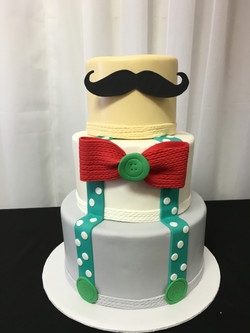 Hipster Baby Shower Cake