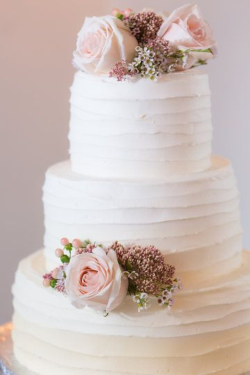 ivory ombre with fresh flowers