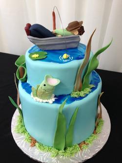 Lazy Day Fishing Birthday Cake