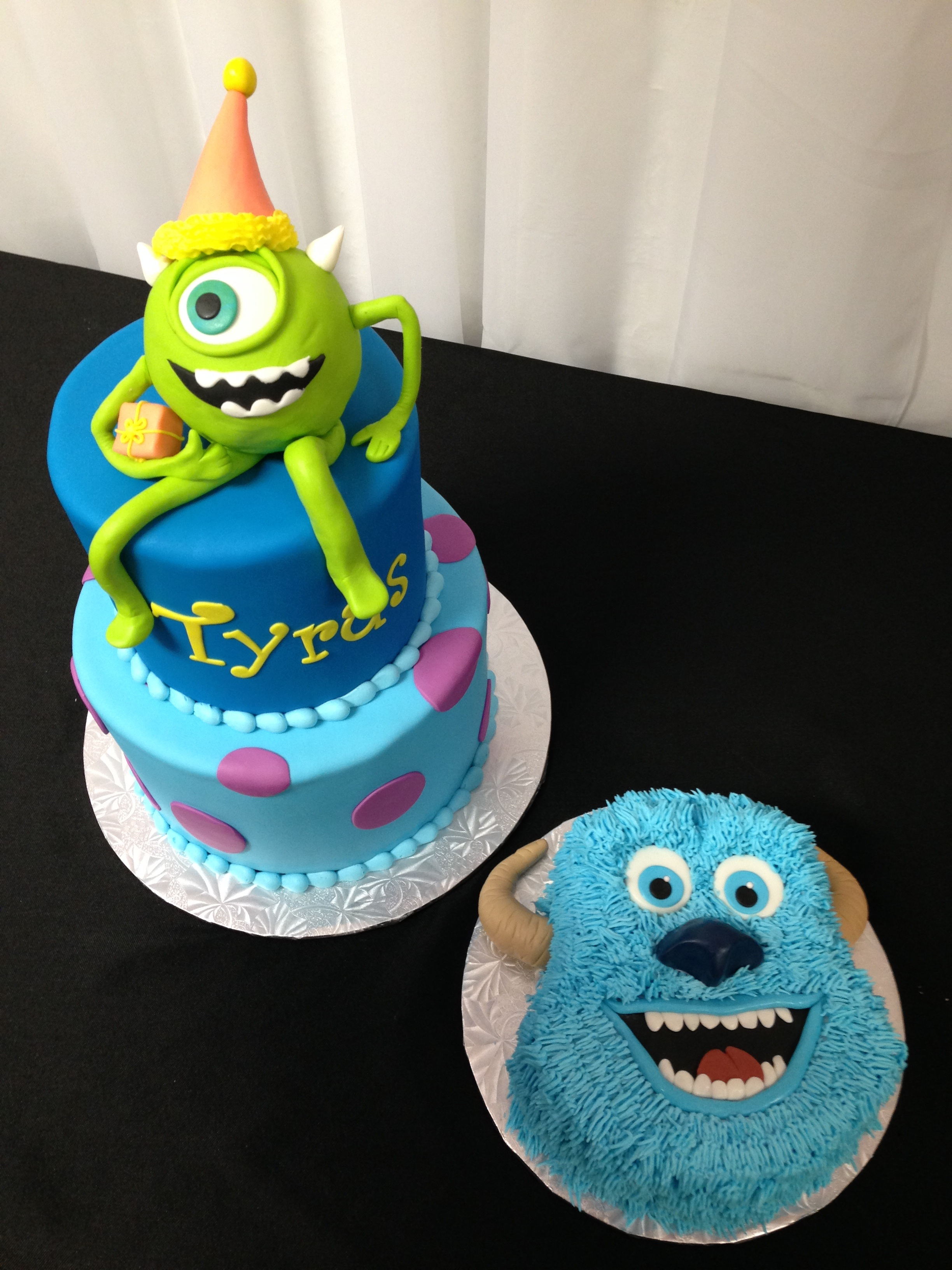 Monsters. Inc birthday and smash cake