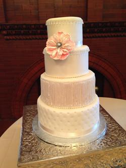 vintage flapper inspired cake