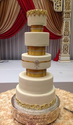 Guilded Wedding Cake