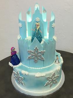 Frozen Castle Backlit Cake
