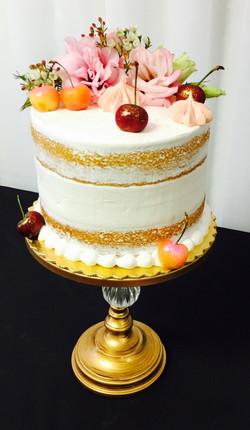 Semi Dressed Birthday Cake