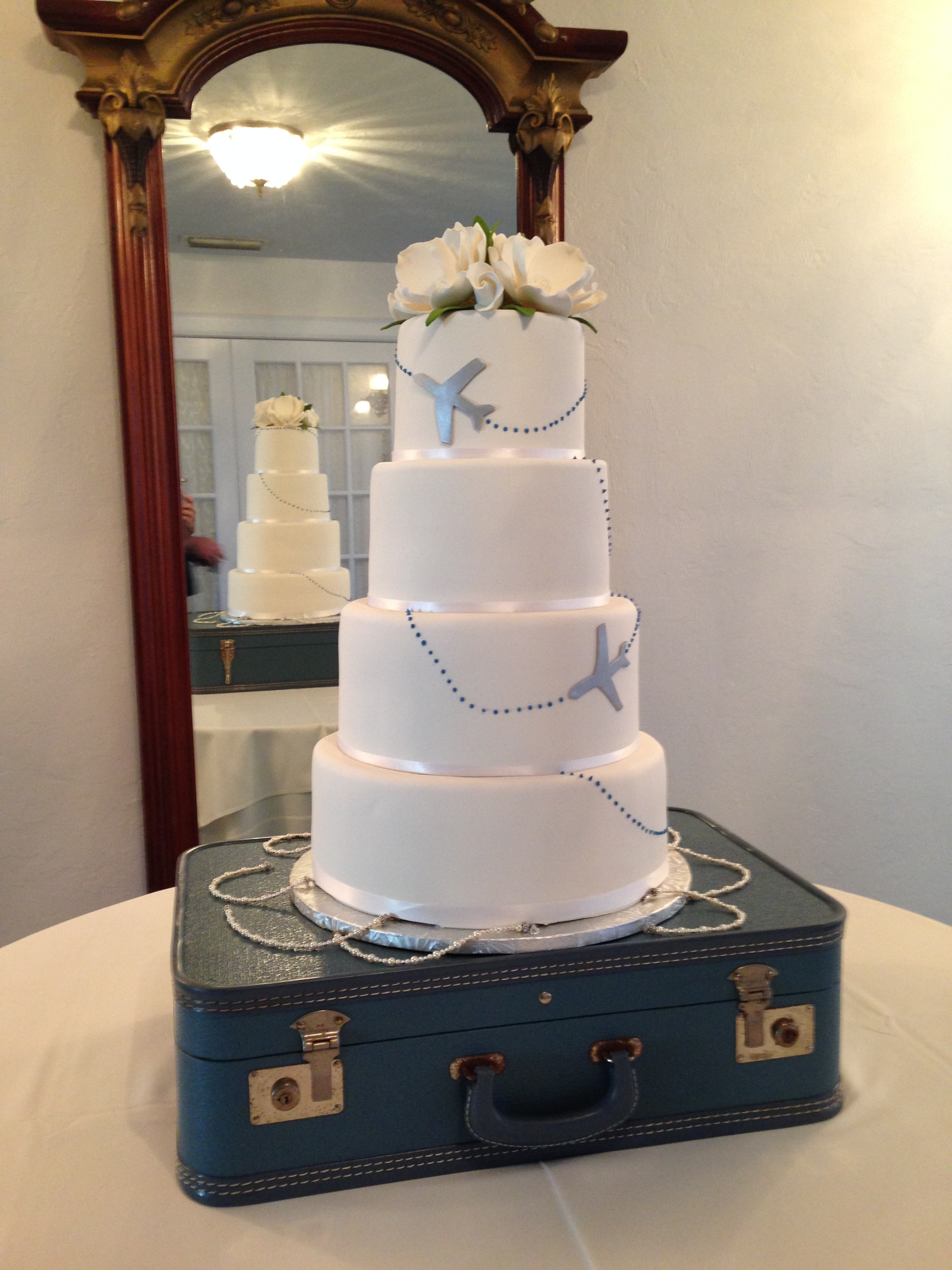 Airline Travel Wedding Cake