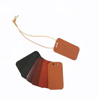 étiquette bagage light cuir