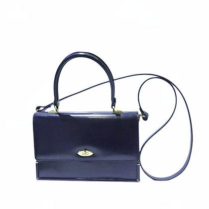 New vintage sac en box bleu marine