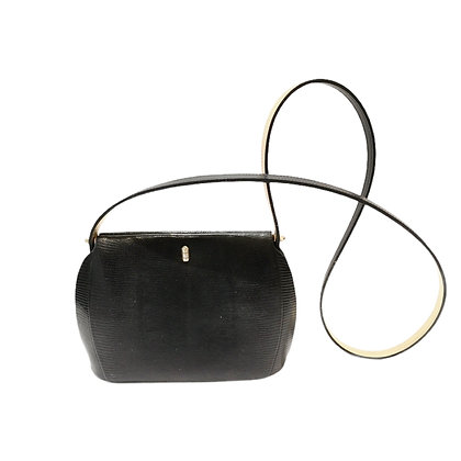 New vintage sac en lezard noir PM