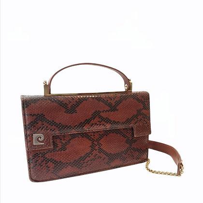 New vintage sac en python marron