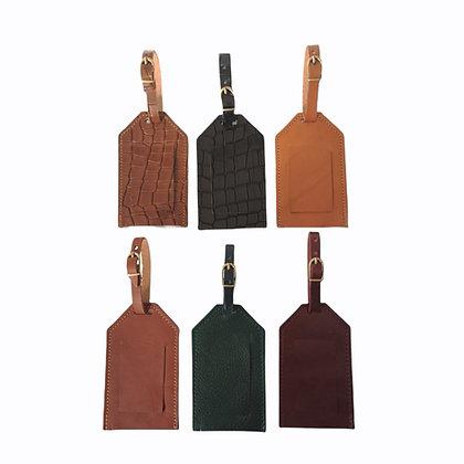 étiquette bagage cuir